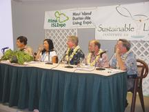 Hawaiian Commercial & Sugar employees listen to testimony at a meeting of the Commission for Water Resource Management.